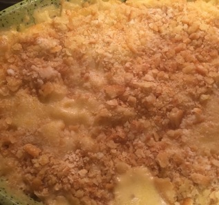The buttery cracker crumbs make this dish extra delish!